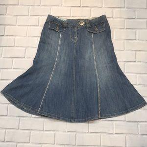 Junior Size Candie's Flared Jean Skirt